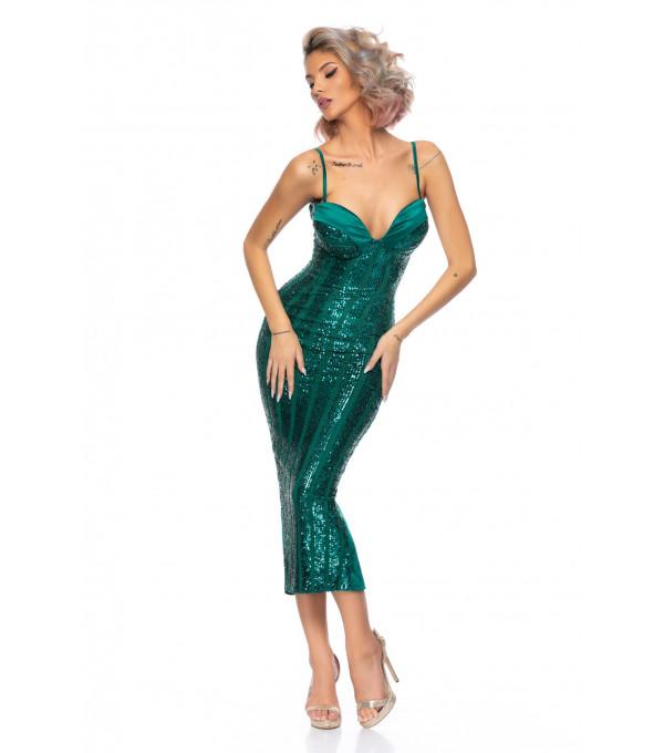 Rochie midii verde BBY-R101X