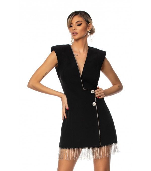 Rochie neagra dama BBY-R71X