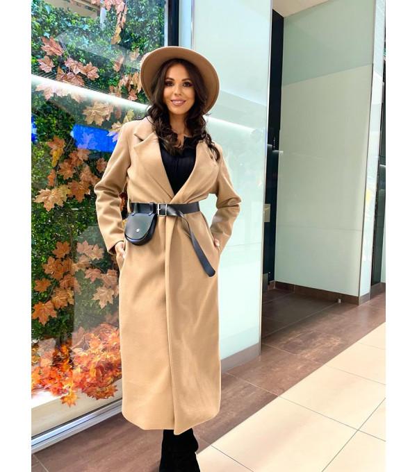 Palton crem dama IT-PLT01Y