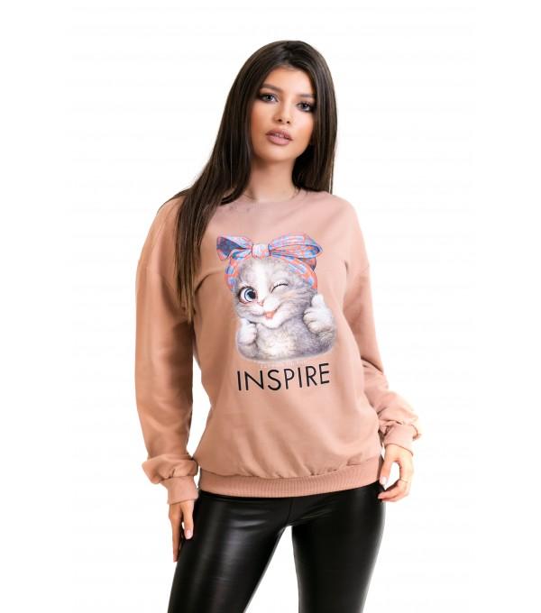 Bluza imprimeu pisicuta IT-BL17V