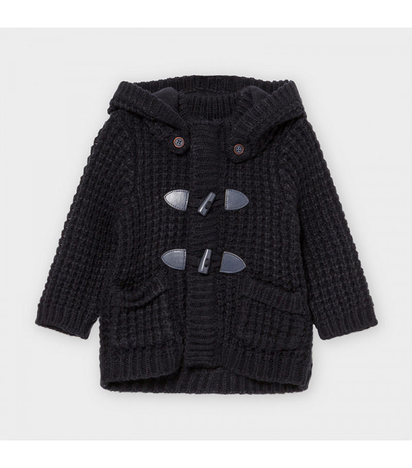 Jacheta bleumarin tricot nasturi bebe baiat 02354 MY-G103Y