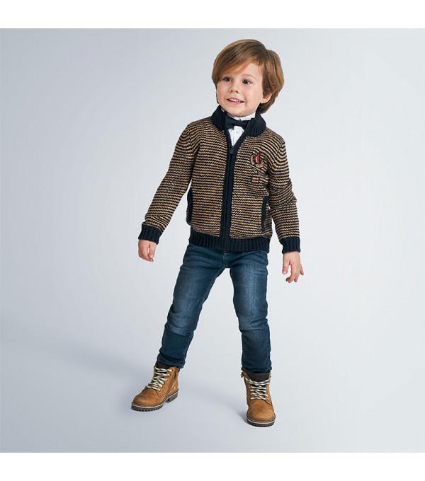 Jacheta tricot eleganta baiat 4337 MY-BL150Y