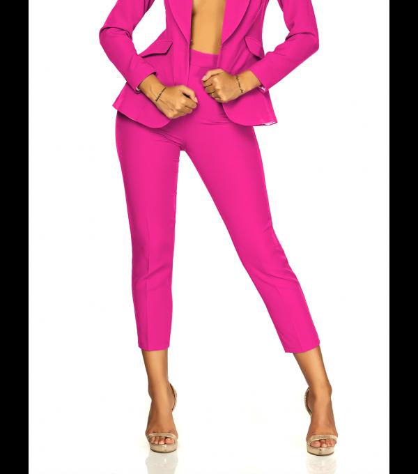 Pantaloni office roz BBY-PL03X