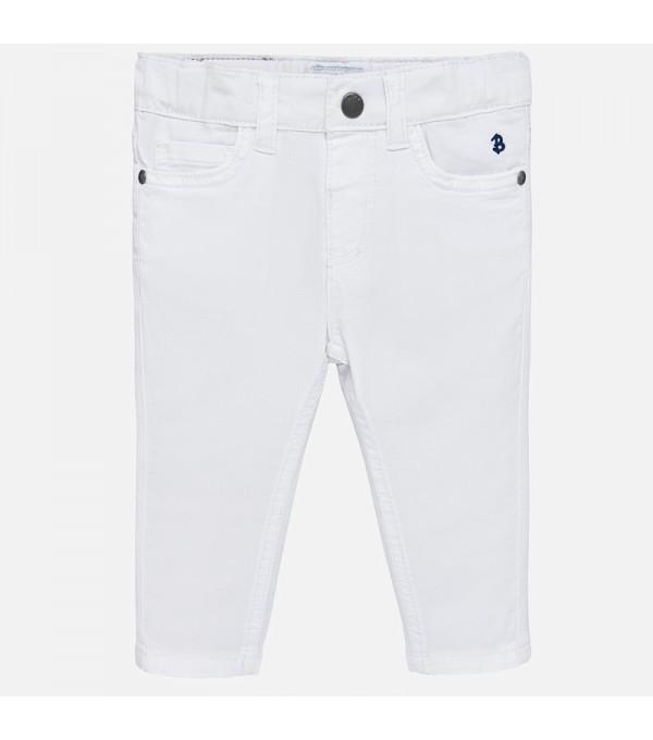 Pantaloni albi fete Mayoral MY-PL207A