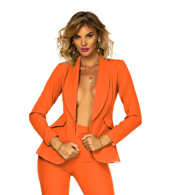 Sacou orange dama BBY-SC03X