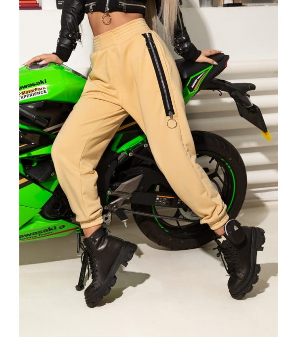 Pantaloni bej sport Mexton MEXPL8461X