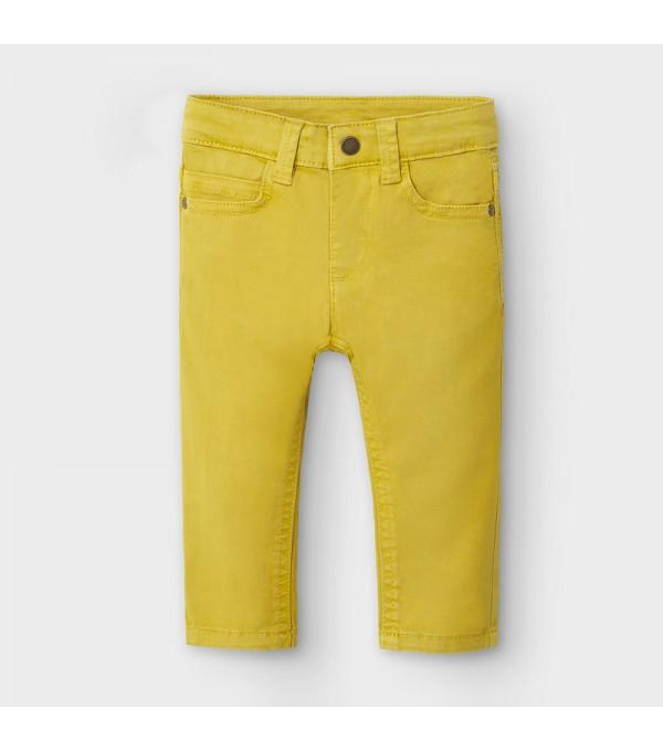 Pantaloni galbeni slim fit bebe baiat MAYORAL 563 MY-PL109Y