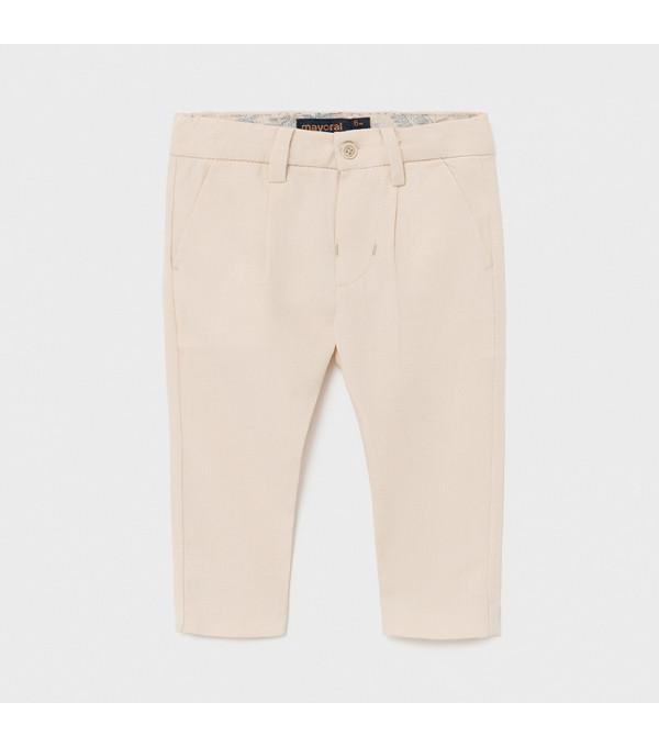 Pantaloni lungi in bej  eleganti bebe baiat 1581 MY-PL13X
