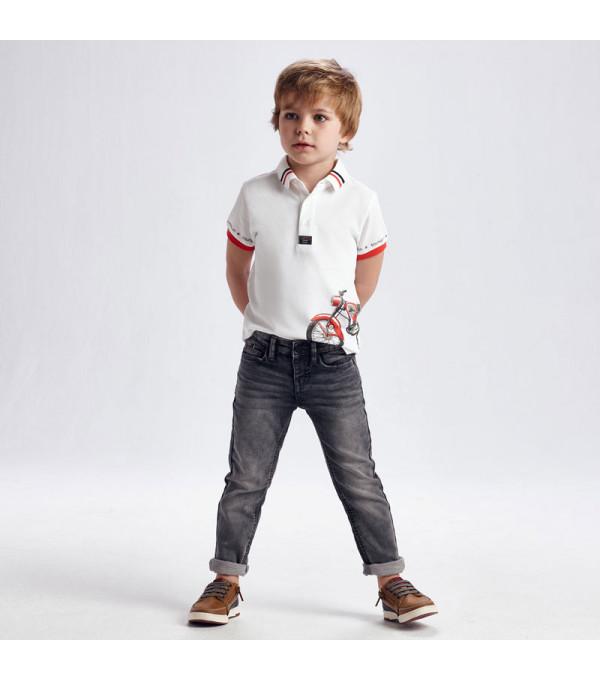 Pantaloni lungi soft denim ECOFRIENDS slim fit baiat 3572 MY-BG11X