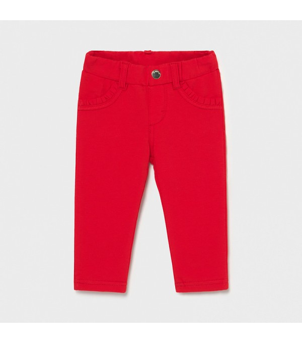 Pantaloni lungi rosii bebe fetita 550 Mayoral My-pl01x