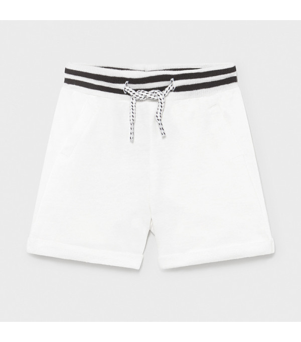 Pantaloni scurti albi plus nou-nascut baiat 1212 MY-PS07X
