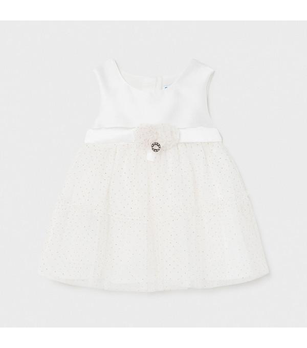 Rochie combinata tul bebe fetita MY-R20X
