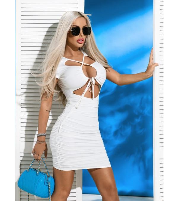 Rochie alba sexy Mexton MEXR8598X