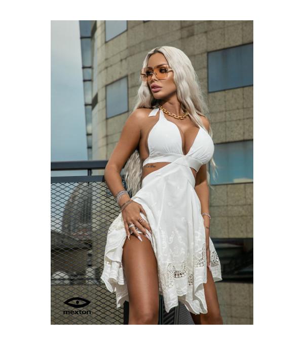 Rochie alba Mexton MEXR8669X