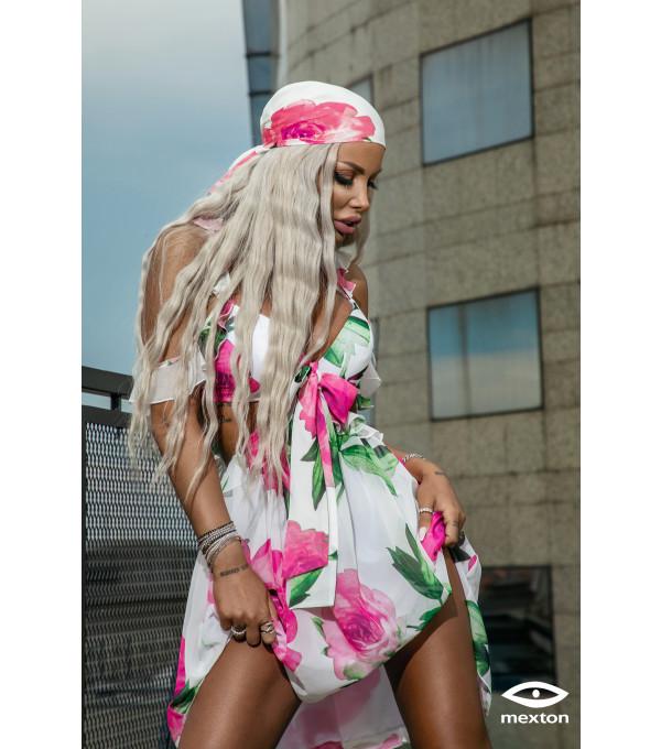 Rochie flori roz Mexton MEXR8671X