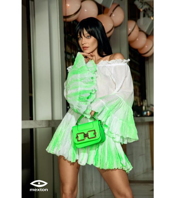 Rochie degrade alb/verde Mexton MEXR8756X