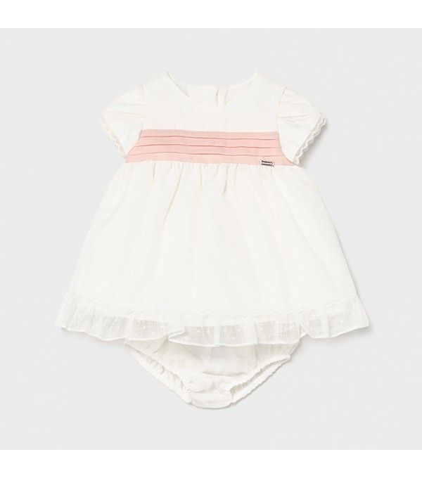 Rochie alba bebe fetita 01819 Mayoral My-r01x