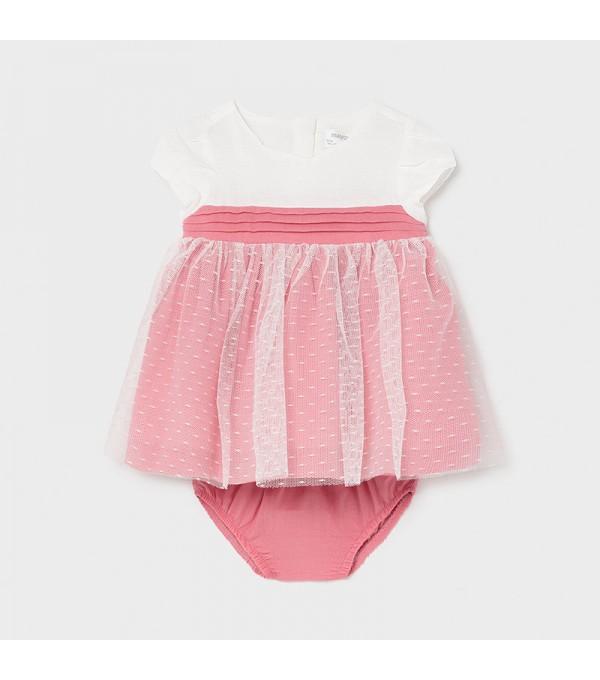 Rochie alb-roz bebe fetita Mayoral 01823 My-r02x
