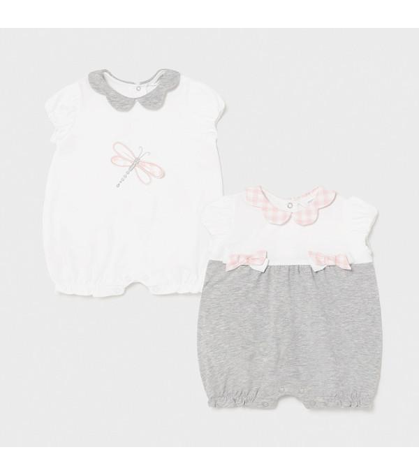 Set 2 pijamale gri new born fata1606 MAYORAL MY-SET17X