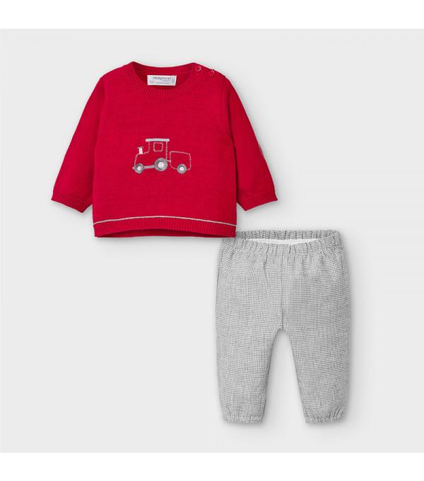 Set cu pantaloni lungi nou-nascut baiat 02557 MY-COS105Y