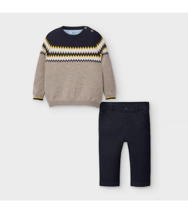 Set pantaloni lungi bebe baiat 02586 MY-COS107Y