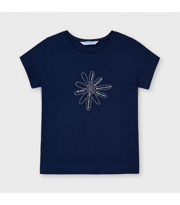Tricou bleumarin Ecofriends basic fetita 00174 MY-BL05X