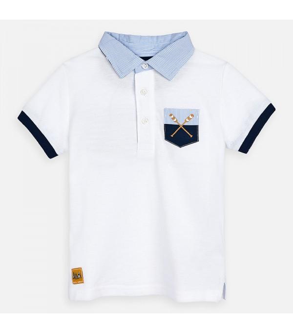 Tricou alb polo baieti Mayoral MY-BL44P
