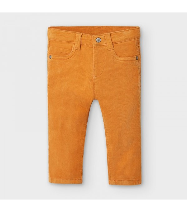 Pantaloni orange raiati lungi slim fit bebe baiat MAYORAL 502 MY-PL118Y