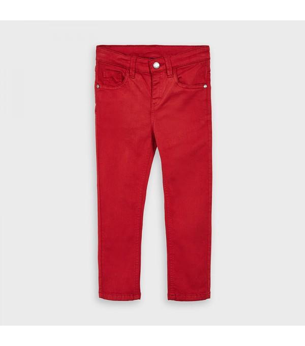 Pantaloni rosii slim fit baiat MAYORAL 517 MY-PL101Y