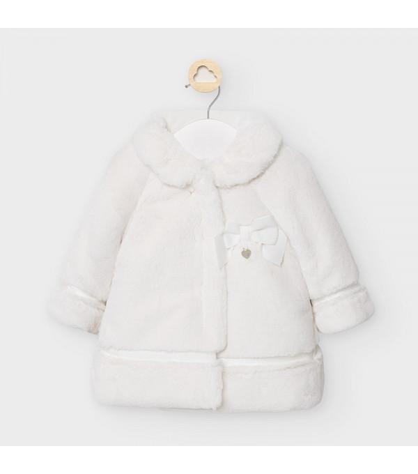 Palton alb blana fetita MAYORAL 2465 MY-G32V