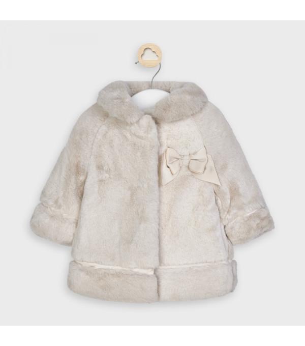 Palton nude blana fetita MAYORAL 2465 MY-G32V