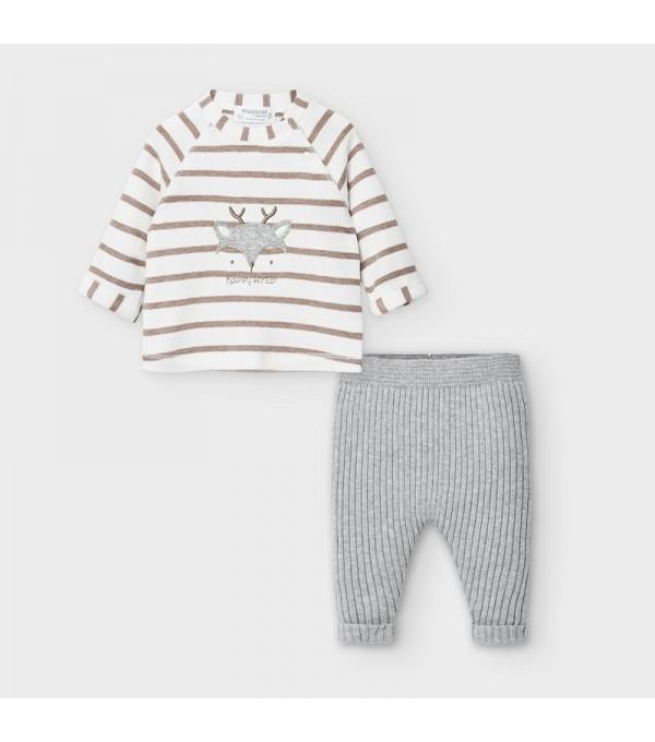 Set pantaloni lungi cu dungi nou-nascut baiat MY-SET32V