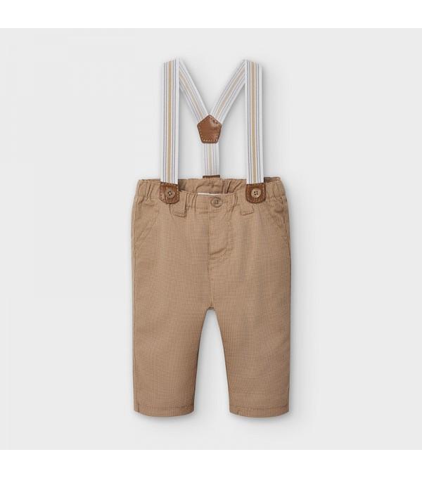 Pantaloni lungi cu bretele nou-nascut baiat MY-PL13V
