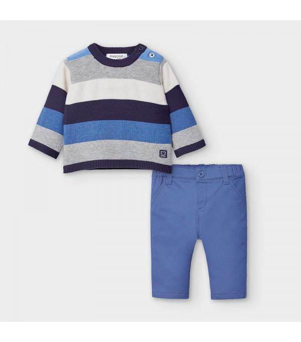 Set pulover si pantaloni nou-nascut baiat 2570 MY-SET21V