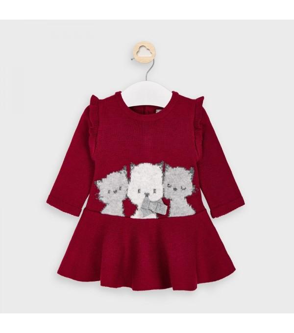 Rochie tricotata rosu Mayoral My-r33v