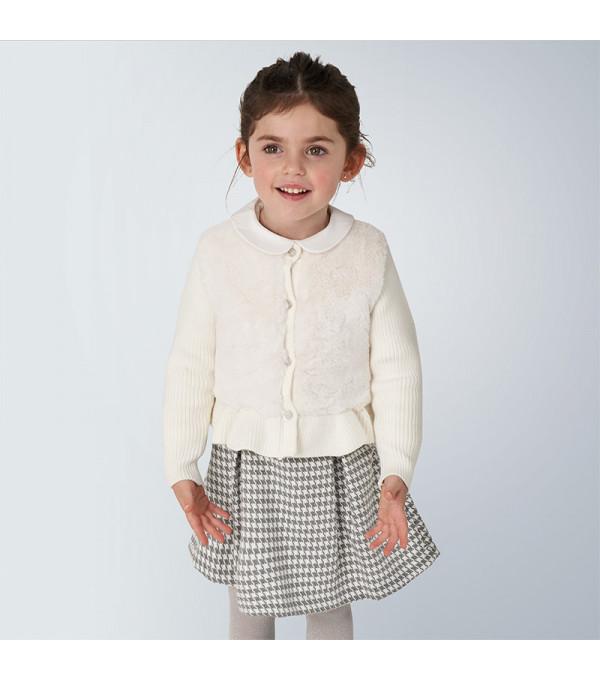 Jacheta tricot blanita fetita 4353 MY-G104Y