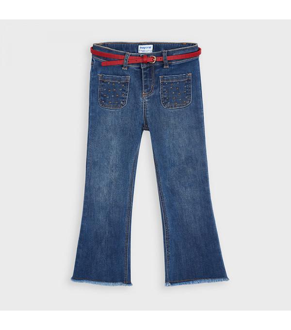 Pantaloni evazati curea fetita 4549 MY-BG102Y