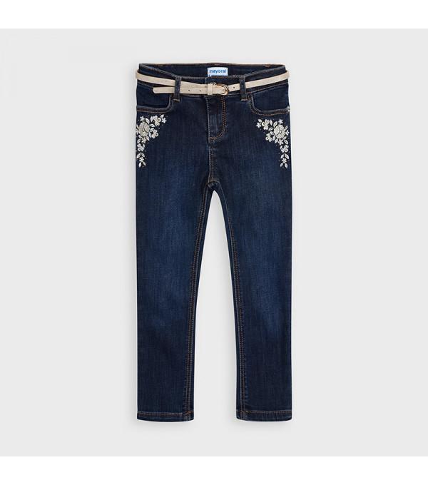 Pantaloni lungi denim metalizati skinny fit fetita 4550 MY-BG103Y