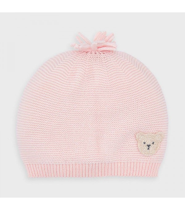 Caciula roz tricot nou-nascut fata MY-CACIUL02V
