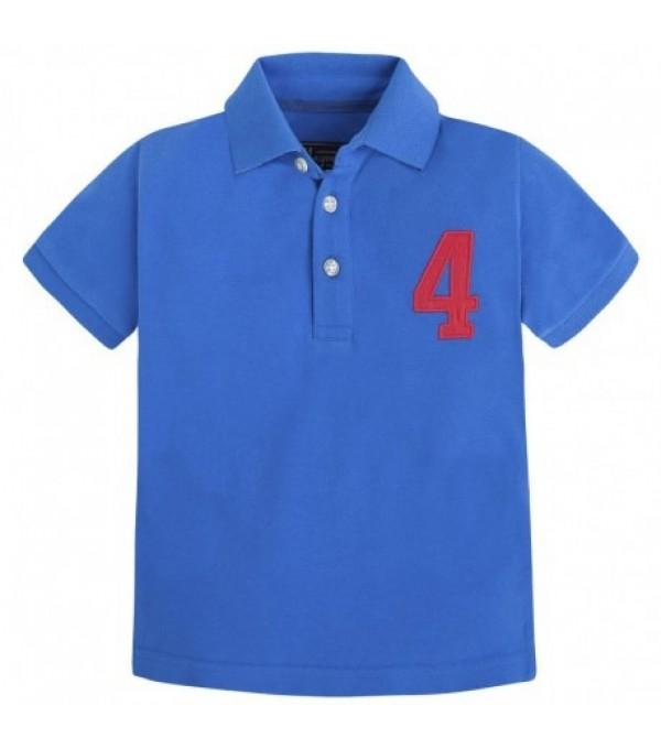 Tricou polo albastru Mayoral My-bl438a