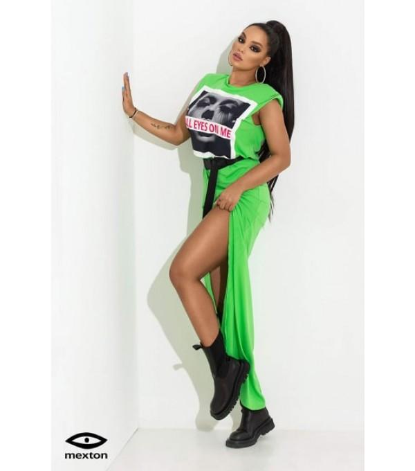 Rochie verde marca MEXTON Mexr8135z