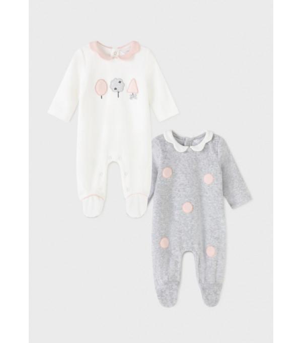 Set 2 pijamale ECOFRIENDS nou-nascut fata 2666 MY-SET06Y