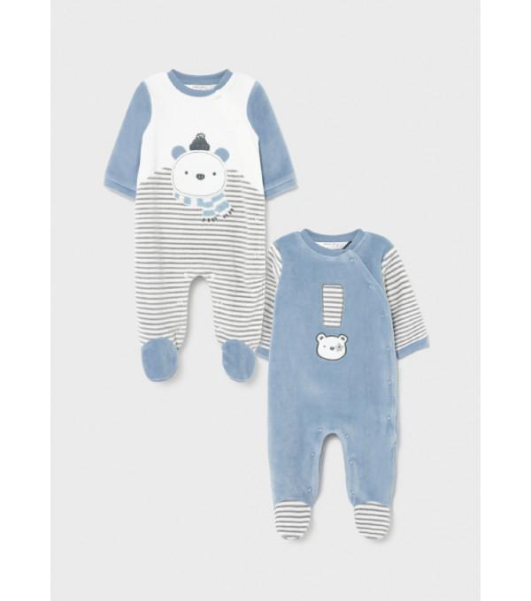 Set 2 pijamale nou-nascut baiat 2685 MY-SET12Y