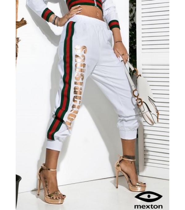 Pantaloni albi 3/4 Mexton MEXPL8608X