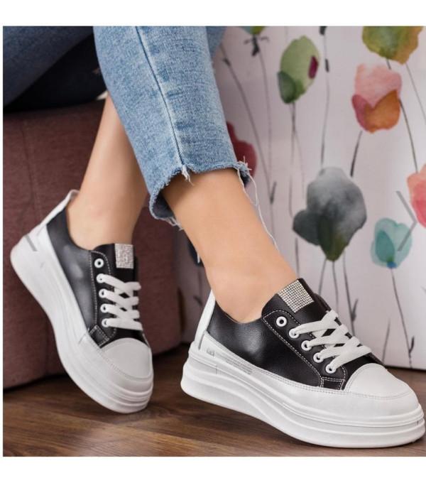 Adidas dama piele eco alb-negru IT-ADIDAS02X
