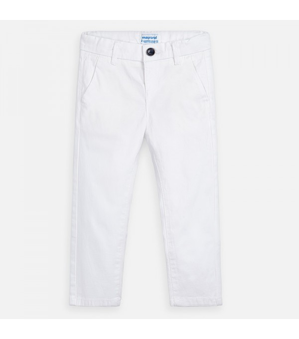 Pantaloni albi baiat Mayoral MY-PL35W