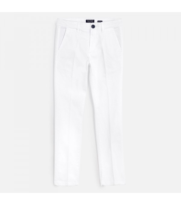 Pantaloni albi Mayoral MY-PL36W