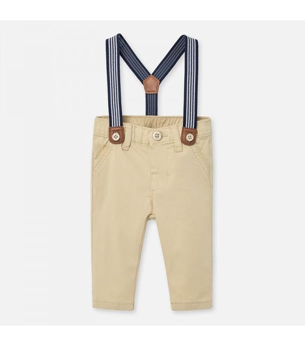Pantaloni lungi bretele bebe baiat nou-nascut MY-PL06P