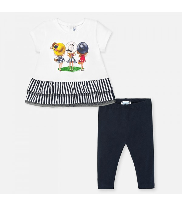 Set tricou combinat si leggings bebe fetita MY-SET63P