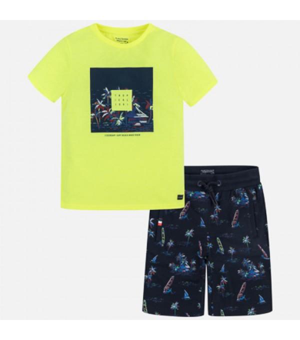 Set tricou bermude cu imprimeu Mayoral My-set00p